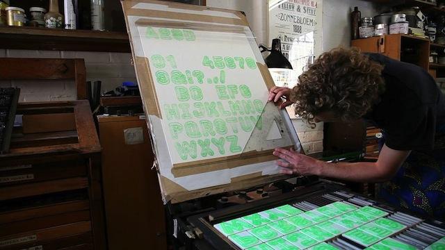 3D-printed Letterpress Font-3