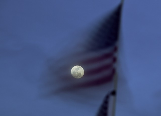 Ken Kitano, National Flag, Santa Monica, CA, from the series Watching the Moon, 2013, 20 x 24 inch Chromogenic Print