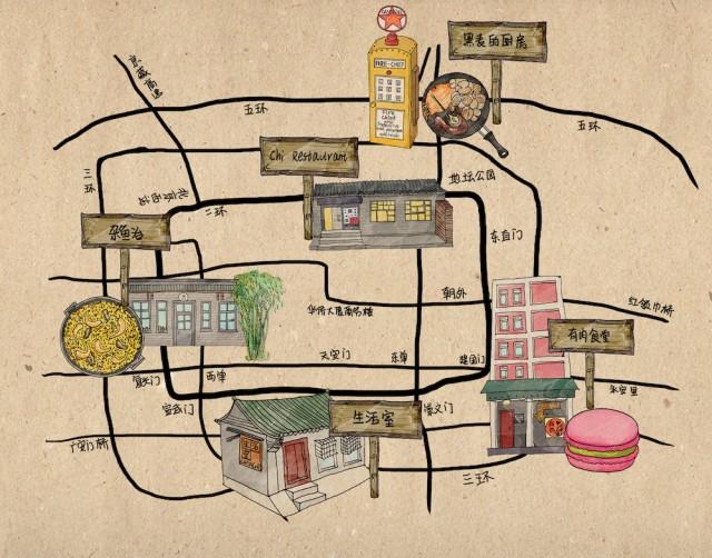手绘地图 - 北京